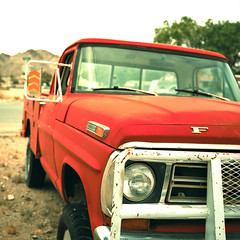 two fifty. beatty, nv. 2016. (eyetwist) Tags: auto old orange 6 hot color ford abandoned 120 6x6 mamiya film contrast analog truck mediumformat square typography xpro crossprocessed saturated junk rust cross desert 4x4 bright mesh kodak decay crossprocess nevada guard rusty dry pickup ishootfilm chrome mojave type letter bleak headlight analogue grille roadside mamiya6 process 1972 ektachrome processed e100vs beatty mojavedesert typographic emulsion 75mm f250 worktruck pushbar kodakektachromee100vs 100vs lenstagger eyetwist 6mf mamiya6mf ishootkodak epsonv750pro recentlyprocessedfilm eyetwistkevinballuff mamiya75mmf35l atomicinn crossprocessede6toc41 americantypologies