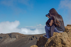 Shooting on the of the world. (peolae) Tags: travel cruise sky nature clouds photography volcano hawaii drive roadtrip maui hike traveller explore crater summit healeakala