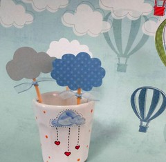 Toppers Nuvens (Projetos em Papis :: BH :: Brasil) Tags: clouds nuvens toppers babyshower topper chdebeb delicadeza bailaletra