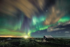 """Niceland"" (ArnarKristjans_photography) Tags: trip travel house green tourism nature night canon stars landscape photography lights landscapes iceland amazing travels europe photographer nightscape tourists astrophotography nordic traveling northernlights auroraborealis cabins phenomena phototours"