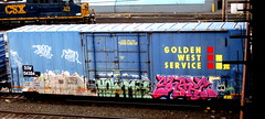 erupto - shake (timetomakethepasta) Tags: erupto shake toro sts mta hiloe a2m sws d30 freight train graffiti golden west service boxcar
