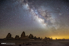 Milky Way Over Trona Pinnacles (GWZ Photography) Tags: california us unitedstates ridgecrest milkyway tronapinnacles