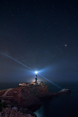 Mi luz (Masterdreams) Tags: longexposure lighthouse night stars faro noche dream estrellas mallorca sueo calafiguera 20seconds 70d longexpohunter
