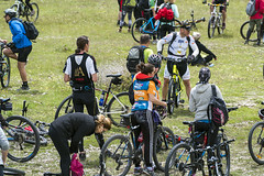 Bicyclists are ready :) (ViaDinarica) Tags: people food usaid nature landscape locals hiking ceremony runners awards mountainbiking whitetrail undp bosniaandherzegovina wildnature blidinje blidinjelake viadinarica connectingnaturally terradinarica