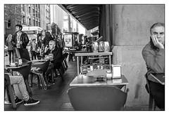 Jet Bar, Sydney  #066 (lynnb's snaps) Tags: street city blackandwhite bw film bar 35mm cafe nikon sydney d76 hp5 f80 qvb ilford nikonf80 nikkor50mmf18afd jetbar