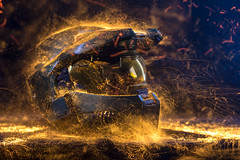 Master Chief.  172/366. (FadeToBlackLP) Tags: uk longexposure light england lightpainting flow 50mm aperture stream chief 14 helmet halo master lighttrails manual bungie lightart samyang longexposurephotography lpuk lightpaintedtoys