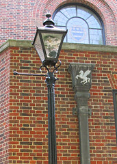 Lamp Post & Drain Pipe, Inner Temple, London, England (Amethinah) Tags: uk greatbritain england london unitedkingdom pegasus lamppost drainpipe innertemple 2013