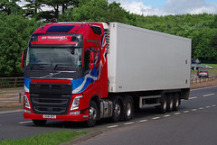 JHP Transport of Lanark Volvo FH SG16OFZ on the A90, Dundee, 20/6/16 (andyflyer) Tags: truck transport lorry haulage hgv roadtransport jhp volvofh jhptransport sg16ofz
