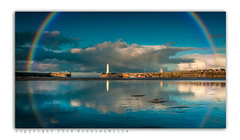 In My Minds Eye (RonnieLMills 6 Million Views. Thank You All :)) Tags: county blue ireland lighthouse clouds rainbow skies harbour down northern donaghadee roygbiv autofocus