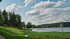 Jezioro Godap (Piotr .) Tags: sky panorama lake clouds forest mazury jezioro chmury niebo goldap masuria godap leny zaktek
