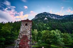 Watchtower (CHCaptures) Tags: old blue red sky mountain green tower berg clouds landscape wolken filter landschaft cokin hochofen sonyilce7 sel2470z vodernberg