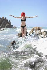 Siren (J.konarsky) Tags: ocean summer beach water see shore mermaid redhair siren tattoedgirl