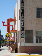 Antlers Cafe & Lounge (unforgivn1) Tags: antlers cafe lounge newcastle wy wyoming summer 2014 swastika sign downtown small town america