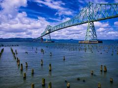 The Astoria Megler Bridge (Jim Nix / Nomadic Pursuits) Tags: travel bridge seascape oregon landscape photography olympus columbiariver astoria hdr lightroom astoriameglerbridge mirrorless nomadicpursuits macphun jimnix olympusomdem1 aurorahdrpro