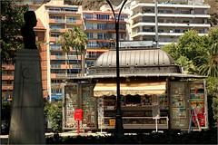 A Malaga, Andalucia, Espana (claude lina) Tags: claudelina espana spain espagne andalucia andalousie malaga ville town architecture kiosque journeaux newspapers buildings