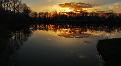 Sheep River Sunset (LostMyHeadache: Absolutely Free *) Tags: trees sunset sky nature water clouds canon river evening spring twilight pond dusk silhouettes 1001nights davidsmith sheepriver calgaryalbertacanada eos60d 1001nightsmagiccity