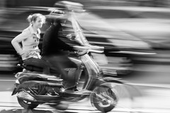 The act of merging - Explored (Ray Zandvoort!) Tags: motion blur holland netherlands dutch amsterdam speed photography museumplein vespa nederland 85mm pan panning mokum act merge the vanbaerlestraat museumsquare merging blurism rayzandvoort division67 showamsterdam showfrontpage
