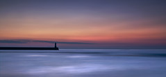 Any Colour you Like (SilverRainbow.) Tags: sea sky lighthouse silhouette sunrise dawn coast pier horizon northumberland northeast berwickupontweed darksideofthemoon spittal d90 silverrainbow