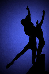 Are we Human or are we Dancer? (fstop186) Tags: blue boy shadow ballet woman man love girl beauty silhouette pose lyrics song human midnight romantic graceful iso1600 thekillers canonef24105mmf4lisusm canon7d arewehuman orarewedancer