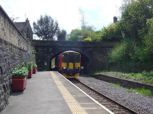 153311 is seen arriving at Matlock station with a service from Nottingham, 13th May 2010.