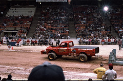 IMG_0046 (Nighthauler Photography) Tags: tractor cars truck pull meadowlands arena crushing bigfoot sled weight