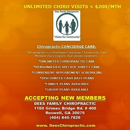 Unlimited Chiropractic Visits (404) 845-7826
