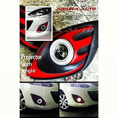#Projector with angle eye for mazda2 #ไฟโปรเจคเตอร์พร้อมวงแหวน #มาสด้า 2 ตัวเริ่มต้น #ของแต่งรถ #ประดับยนต์ #accessories #foglamp #ไฟตัดหมอก
