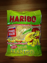 Haribo Sour Mango (Like_the_Grand_Canyon) Tags: candy sweet weingummi