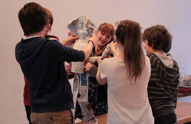 LiveWire Creative Careers Week - Theatre Puppet Making 5