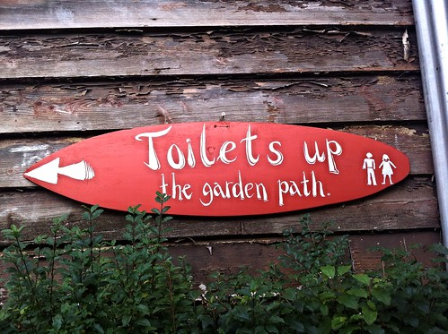 Toilets up the garden path