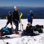 Women's team training at Mt. Hood (LtoR Emma King, Alix Wells Charley Field, Hallie MacLachlan), July PHOTO CREDIT: JP Daigneault