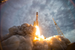 The MUOS 2 satellite launches from Cape Canaveral.