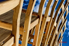 Assig (Yasur.sur.Flickr) Tags: wood blue sky festival for chair place montral festivals des just ciel laugh pour chaise juste rire