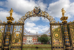 golden gates 01 HD jul 13 (Shaun the grime lover) Tags: park street summer golden town hall warrington cheshire gates bank sankey gateway hdr