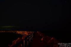 Lexington Harbor (psywar25) Tags: beach night clouds stars photography harbor michigan lexington