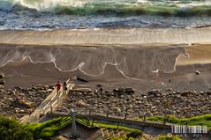 Marea alta (PeRRo_RoJo) Tags: sunset sea sky espaa sun sol beach water landscape atardecer mar agua cloudy sony wave playa cielo nube ola cantabria suances loslocos dslra580