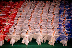 Red, white and blue (Lil [Kristen Elsby]) Tags: travel topf25 dance asia dancers dancing stadium performance dancer korea multiples editorial topv3333 redwhiteandblue northkorea pyongyang eastasia dprk travelphotography arirang canon70200f28l canon7020028l democraticpeoplesrepublicofkorea massgames chosŏnminjujuŭiinminkonghwaguk maydaystadium dprofkorea canon5dmarkii arirangmassgames