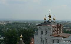 Вид с смотровой плошадки у памятника Первопоселенцу