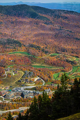 Looking down on the ski resorts below (LEXPIX_) Tags: autumn fall vermont mt sony foliage mansfield stow villiage rx100