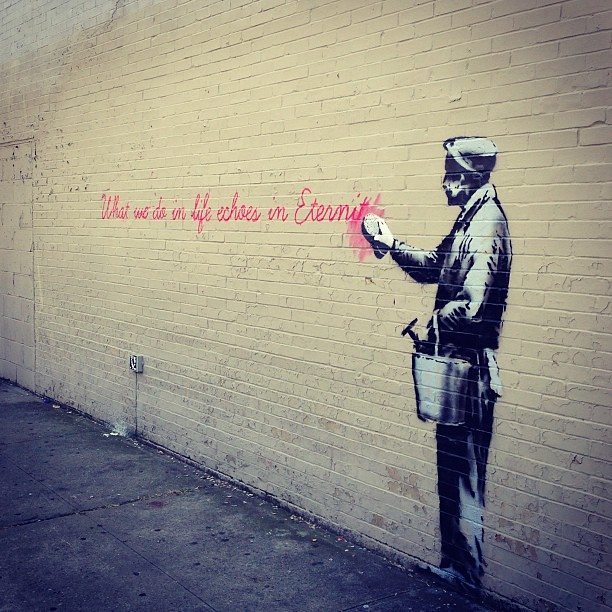 #banksy in queens. Still untouched.
