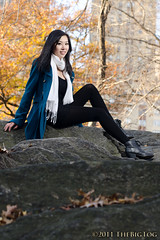 Tina - Fall Photoshoot (TheBigTog) Tags: newyorkcity usa newyork fall fashion female scarf asian photoshoot unitedstates centralpark peacoat misssixty 2011