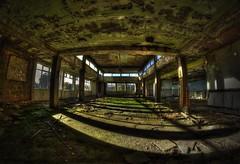 Decaying minds. (Kriegaffe 9) Tags: light sunlight abandoned shadows decay fisheye asylum hdt urbanarte