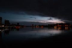 p1340369 (acb) Tags: reflection london thames dusk canarywharf