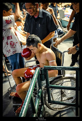 lost (a) (<rs> snaps) Tags: man scale hand box thai boxer boxing bandage weight disappointment preparation muaythai results thaiboxing opponents blinkagain reneschlegel notphotoshoppedbutsnapseeded thaiboxingmuaythai