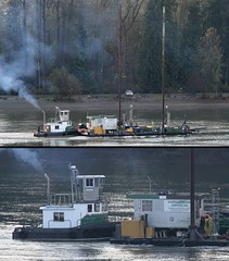 The Bash Passing Derby Reach (rog45) Tags: canada canon bash bc 7d tugboat tug 18200 barge fraserriver rog45 40d f4l2470 f2l135