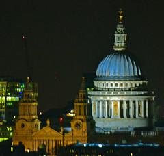 St Pauls At Night (Travis Pictures) Tags: city uk england london westminster night photoshop dark lights evening nikon nightlights view britain londoneye southbank ferriswheel observationwheel capitalsoftheworld d3100