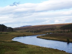 River Naver, Strathnaver, Sutherland, September 2011, Explored (allanmaciver) Tags: blue weather river flow scotland haze day bend wind cloudy scenic moor sutherland sweep naver explored allanmaciver