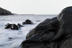 Black & white seascape.....in colour :-) (wynpembs) Tags: sea nature wales canon rocks seascapes pembrokeshire breakwater fishguard limpets 24105f4lisusm canon6d pwlllanddu