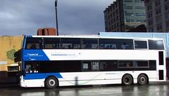 Community Transit 2010 Alexander Dennis Enviro 500 10811 (zargoman) Tags: road travel blue sun white bus wet rain contrast big ct double deck transportation transit tall decker snohomish e500 communitytransit lowfloor enviro500 alexanderdennis