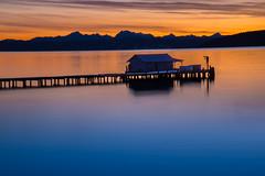 Penn Cove (NW Vagabond) Tags: sunrise dawn pier washington twilight state whidbeyisland mussels 2014 penncove